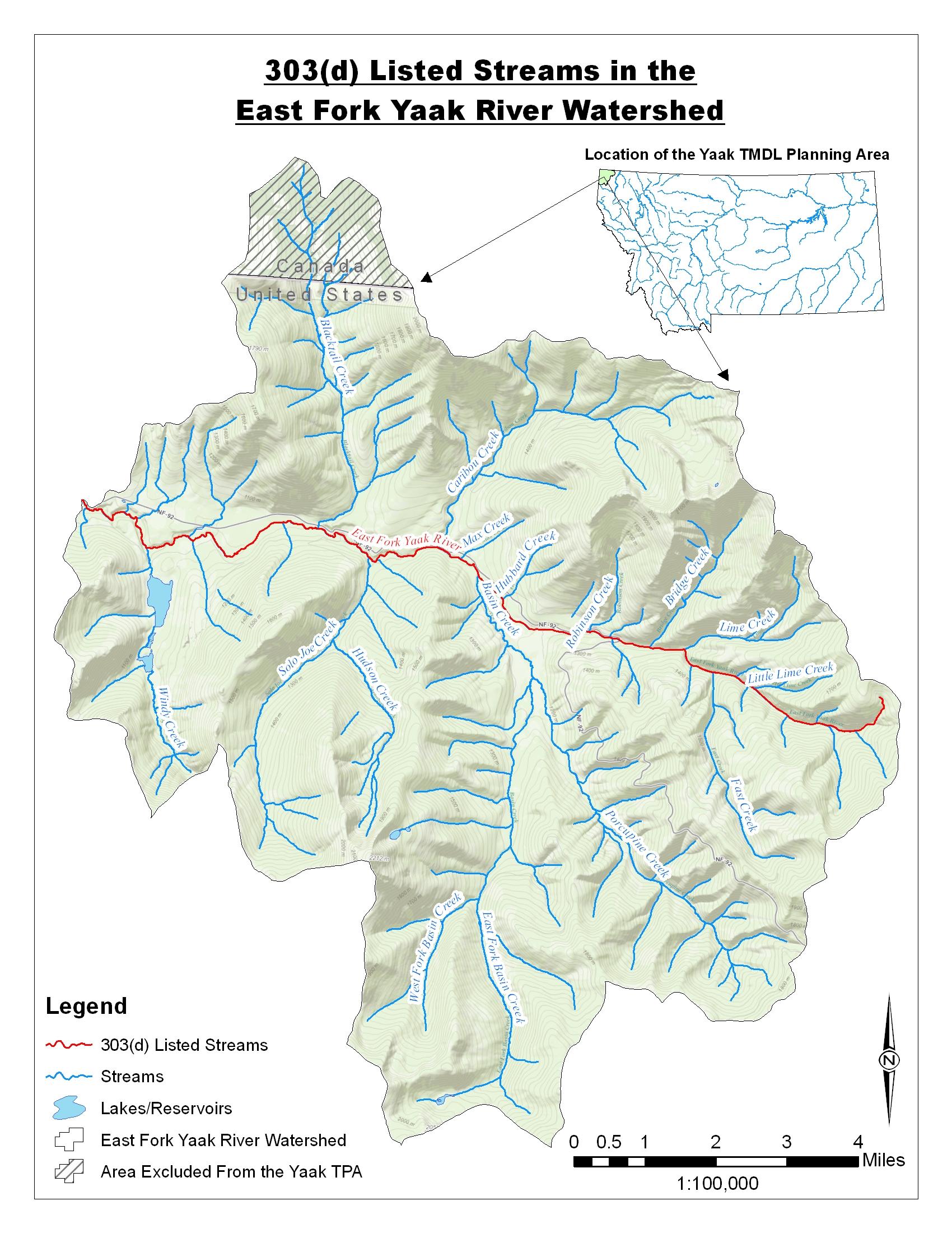 Montana Tmdl Development Projects Yaak Tmdl Planning Area
